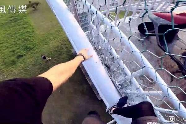 城市泰山現身!徒手攀爬天橋樓梯,跑酷好手挑戰極限化身都市忍者【影音】