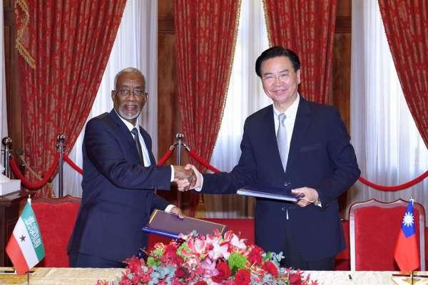 索馬利蘭代表抵達台灣 吳釗燮推文:主權和友誼是非賣品