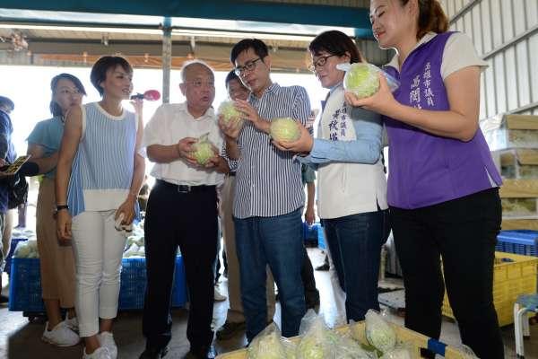 參訪燕巢農會集貨中心 陳其邁大學農業雙元發展