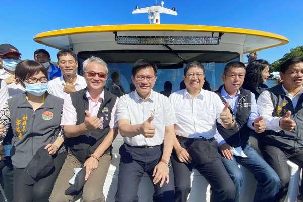 林佳龍視察竹縣峨眉鄉 送上3億紅包打造觀光新亮點