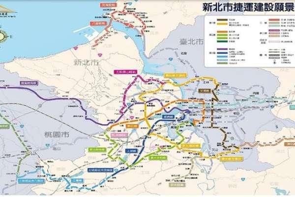 新北捷運網加速建設中!板橋為中心將往南北延伸,2030年可望達121座車站