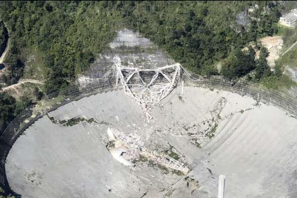 007電影在此取景、無數天文發現都靠它!波多黎各「全球第二大」電波望遠鏡轟然倒塌