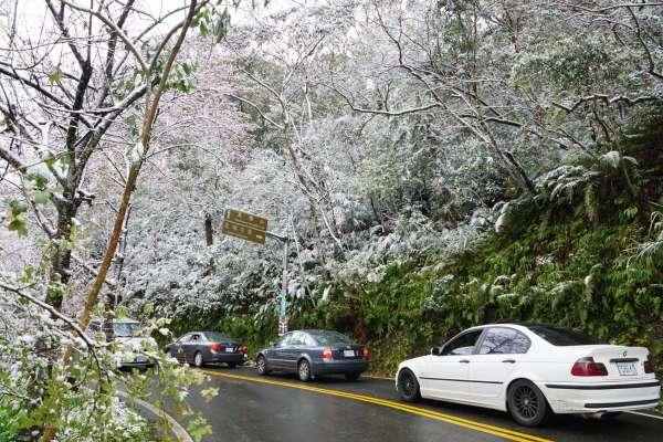 防降雪出事!陽明山視情況祭三階段交通管制