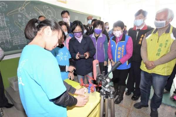 水尾國小展開科技教育新視界 無人機空拍體驗活動