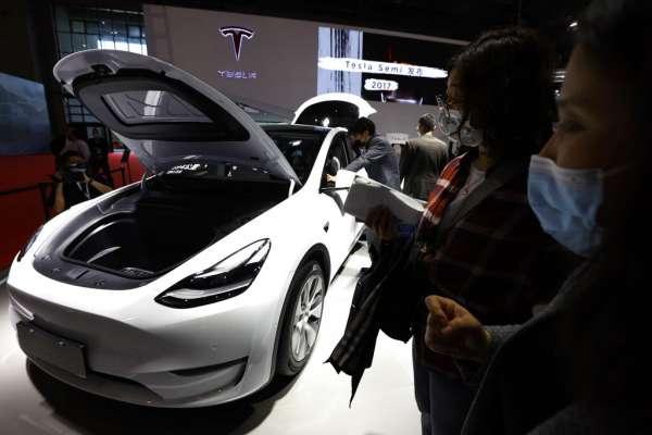 華爾街日報》電動車在中國突破新車銷量十分之一,外國品牌僅特斯拉上榜