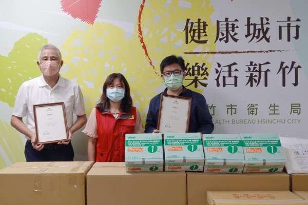 捐贈竹市衛生局1cc注射筒與防護衣 提高疫苗利用率