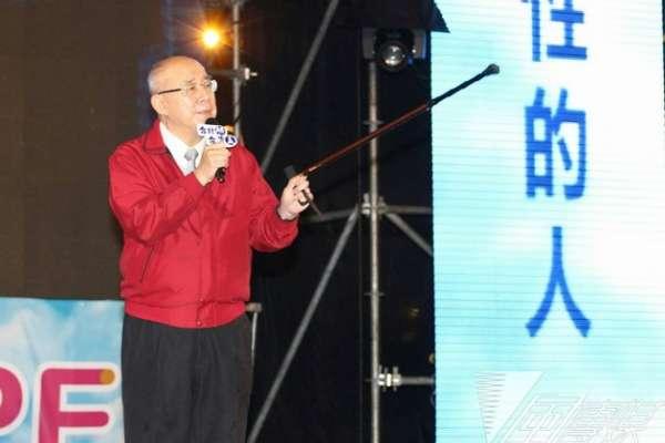 吳伯雄柱枴杖力挺:天要連勝文將生命獻給台北