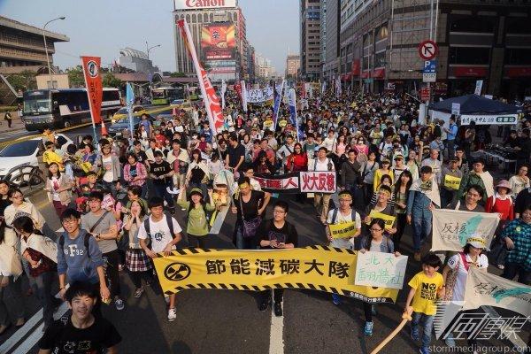 反核遊行 在野勢力大結合