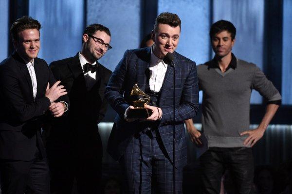 第57屆葛萊美獎揭曉 山姆史密斯高唱凱歌