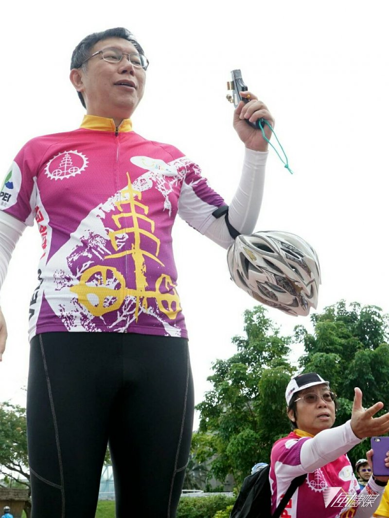 柯文哲10月31日上午出席全球自行車城市大會國際記者會(蘇仲泓攝)