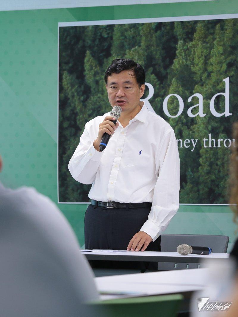 20170803-民進黨秘書長洪耀福3日出席民主進步黨2017外籍留學生夏令營「Road To Democracy」行前記者會。(顏麟宇攝)