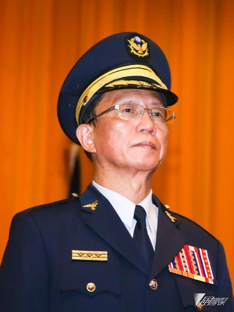 台北市警察局新任局長陳嘉昌出席台北市政府警察局卸新任局長交接典禮。(陳明仁攝)