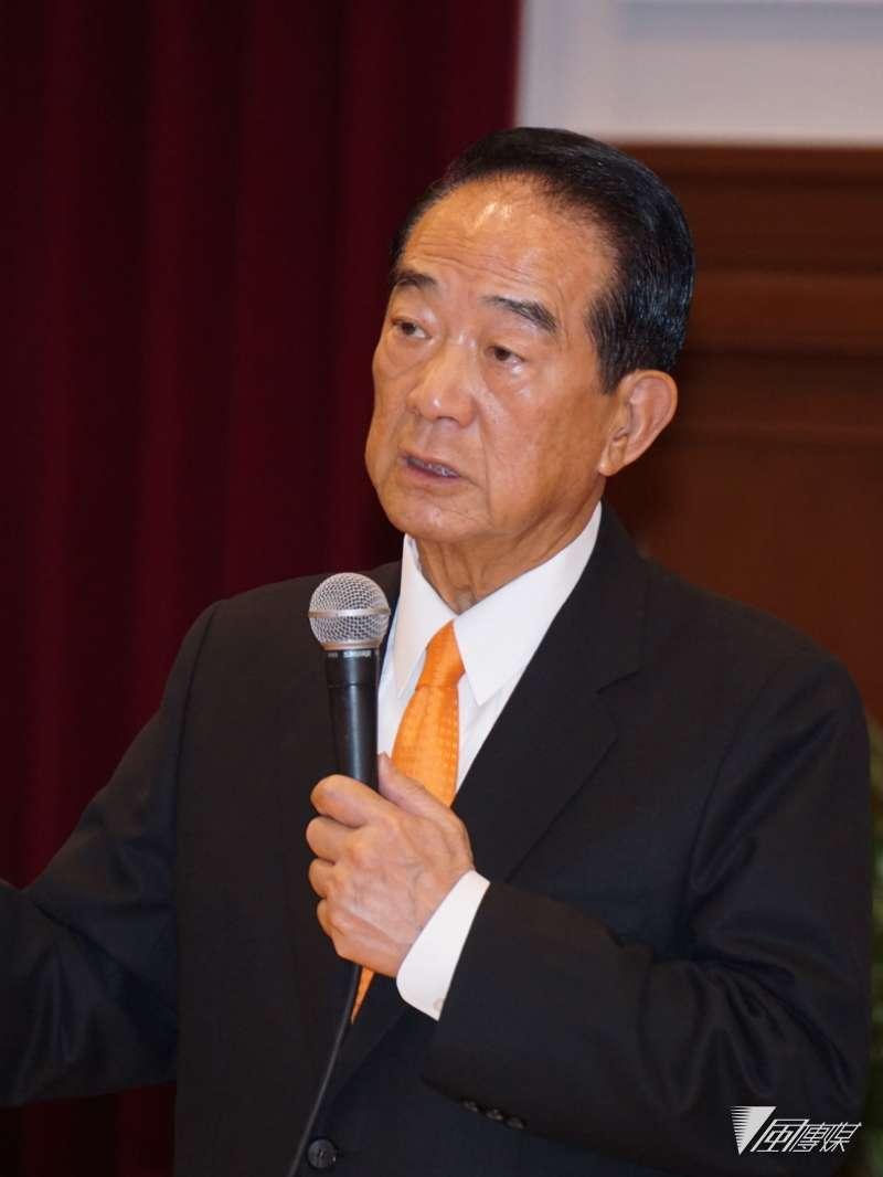 20171113-宋楚瑜出席APEC代表團返國記者會。(盧逸峰攝)