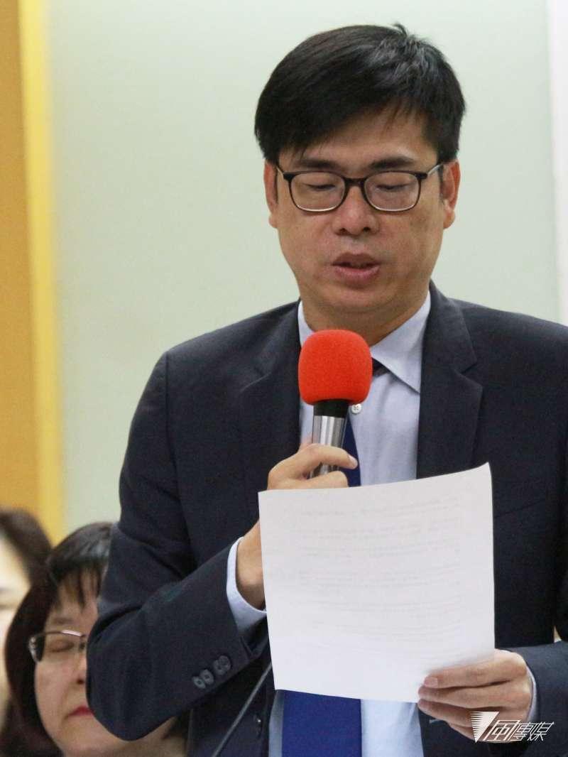 20180418-台灣醫事團體舉辦「台灣應參加WHA,共同追求全民均健」聯合國際記者會,立法委員陳其邁發言。(陳韡誌攝)