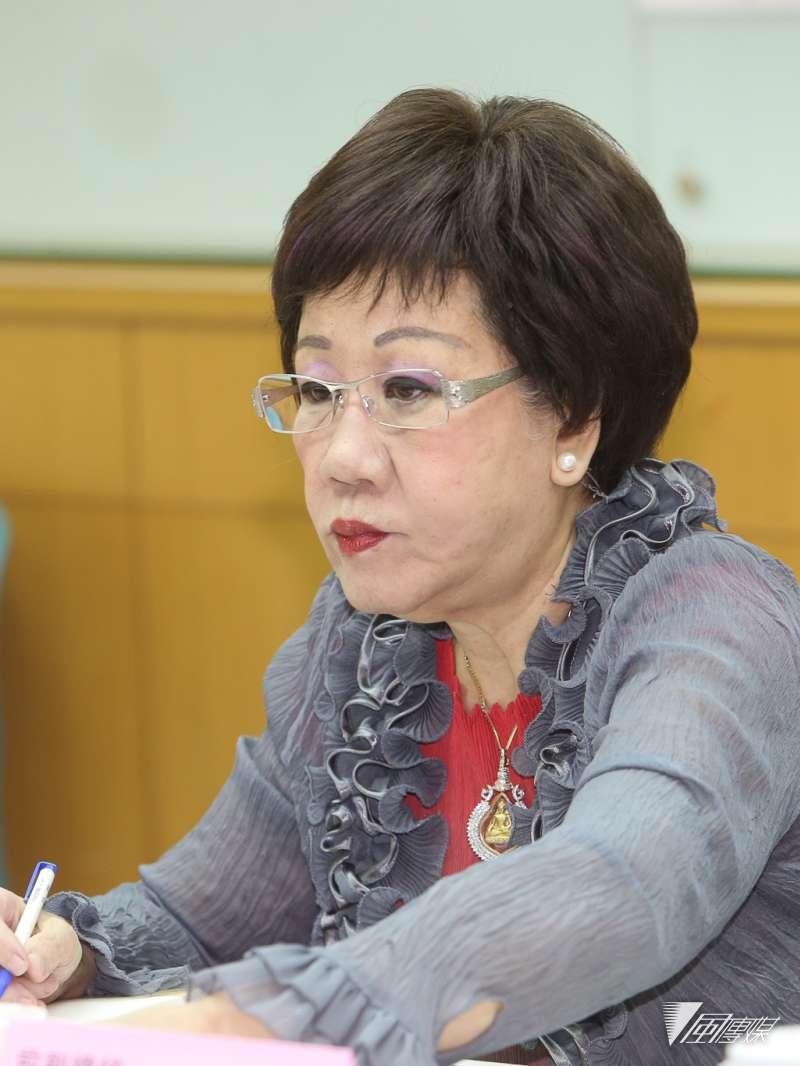 前副總統呂秀蓮,20180806-出席前副總統呂秀蓮舉行「1124過後:台灣新政局素描」記者會。(陳明仁攝)