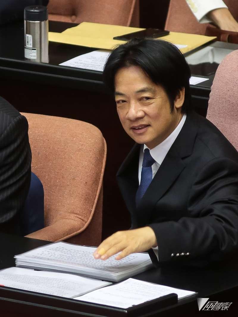 20181016-行政院長賴清德16日出席立院總質詢。(顏麟宇攝)