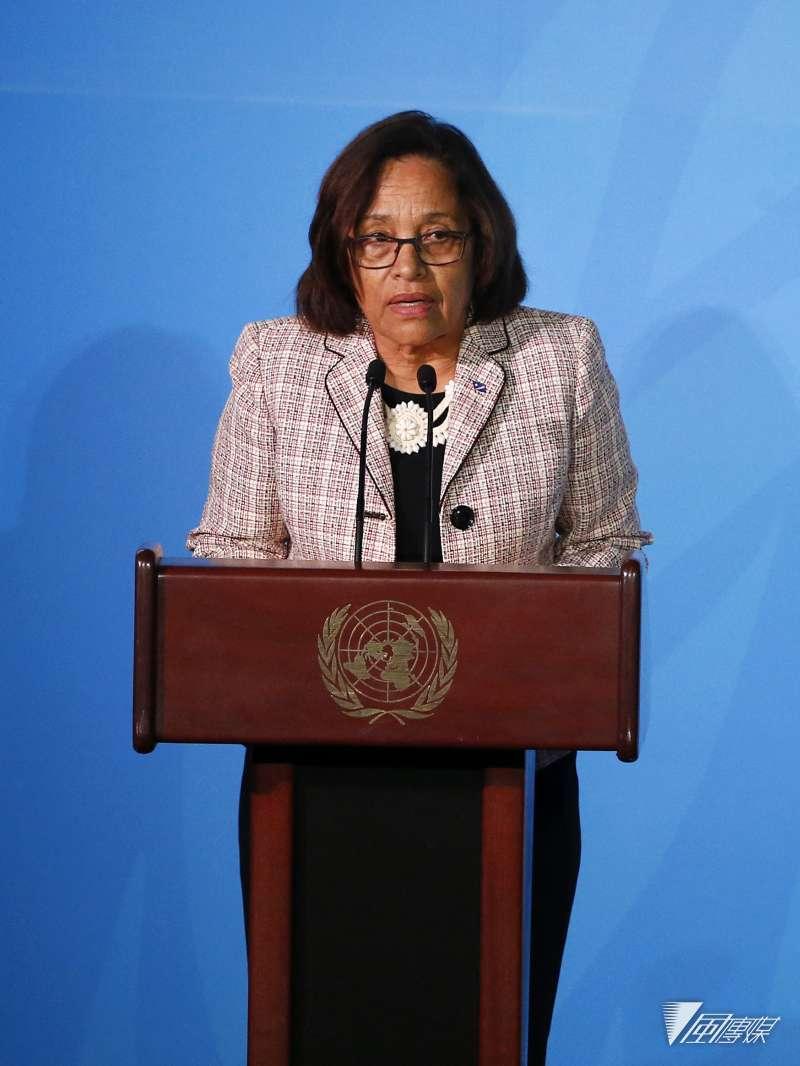 馬紹爾總統海妮(Hilda Heine)致電蔡英文總統,表達兩國堅定邦誼。(AP)