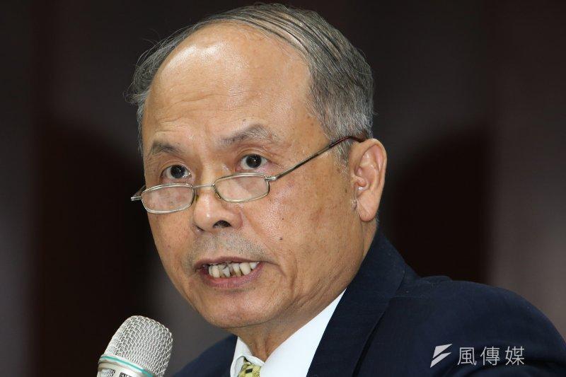 財政部今天表示,從去年11月APEC會議後便已接受行政院請託研擬因應對策,並於本月初完成評估意見。圖為財政部長張盛和。(資料照片,吳逸驊攝)