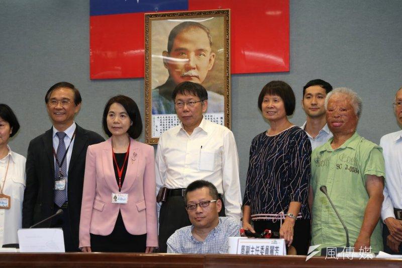 台北市長柯文哲籌組的「公民參與委員會」正式成軍。(吳逸驊攝)