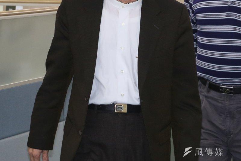前陸委會副主委邱太三受命召集民進黨籍立委及智庫,共商列為優先法案的《兩岸協議監督條例》草案內容。(資料照,余志偉攝)