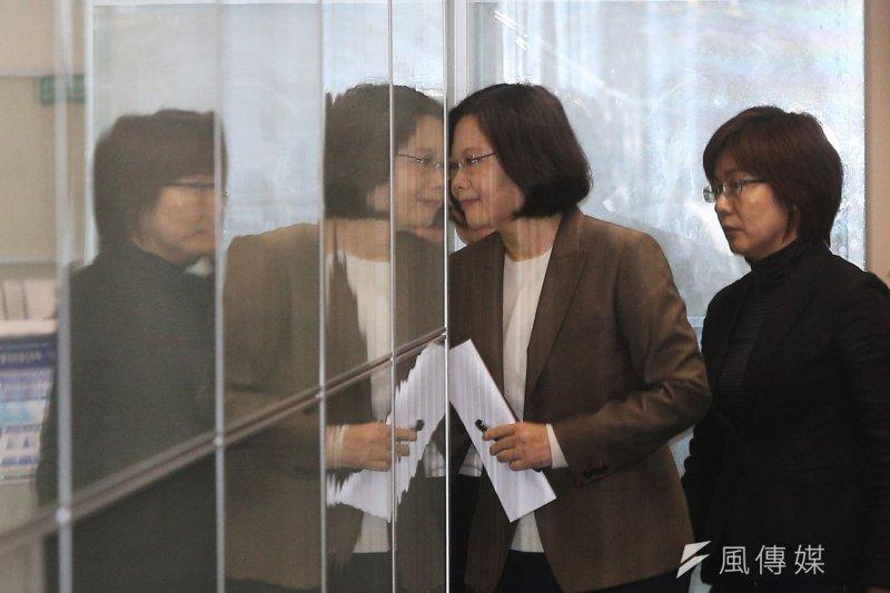 民進黨9日第二次舉行中國事務會,由黨主席蔡英文主持。(楊子磊攝)