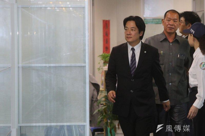 台南市長賴清德拒絕列席市議會,今日遭監院通過彈劾。(資料照片,楊子磊攝)