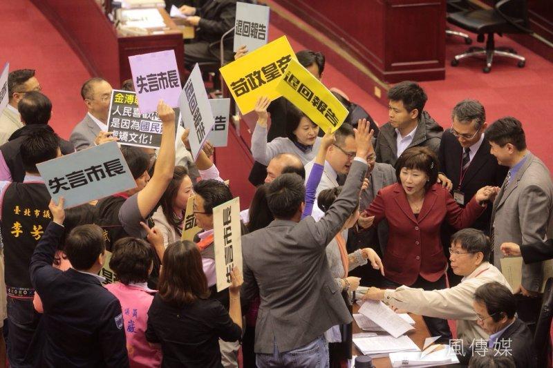 台北市議會開議後將上演藍綠大戰,關係到明年柯P新政會不會跛腳?這就看北市議會工務、教育、交通委員會本次會期由誰拿下。(資料照片,楊子磊攝)