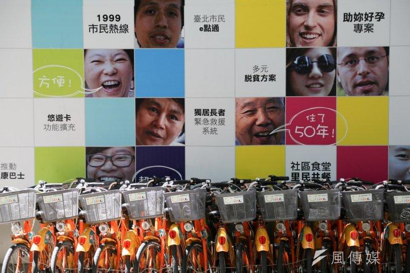 台北市長柯文哲承諾,未來敬老悠游卡,也可以免費騎YouBike!(余志偉攝)