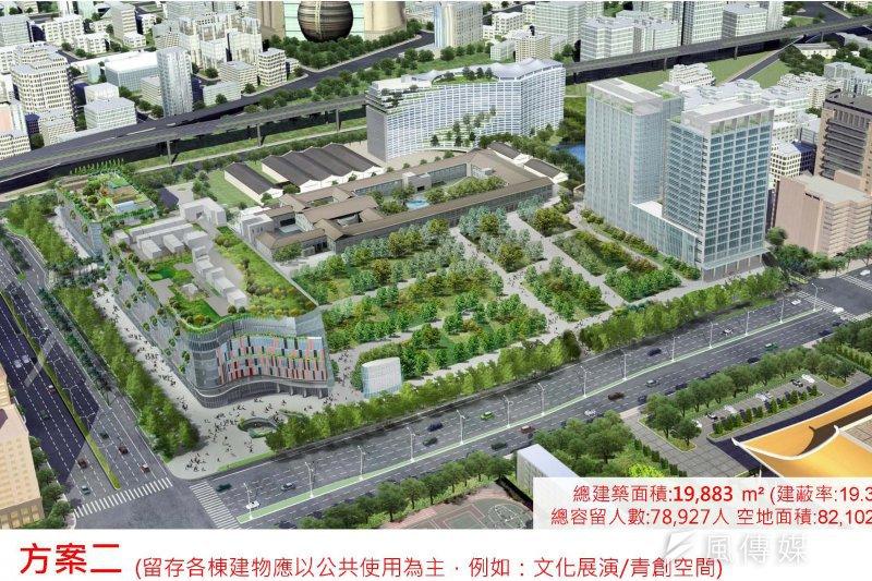 沒有「大巨蛋」的巨蛋園區是北市府提出的方案之一,藍綠議員對於「保蛋」的看法各自不同(取自大巨蛋安全體檢報告)