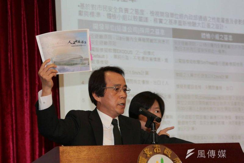 大巨蛋體檢報告出爐,圖為北市副市長林欽榮。(余志偉攝)