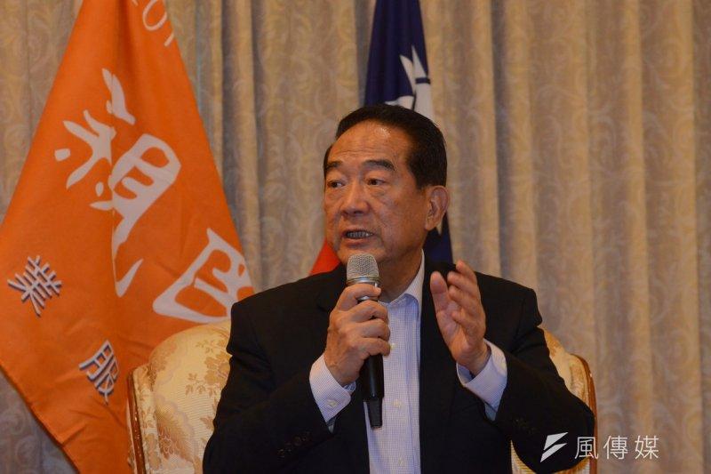 親民黨黨主席宋楚瑜16日接受訪問,對台北市長柯文哲高度肯定。(資料照片,宋小海攝)