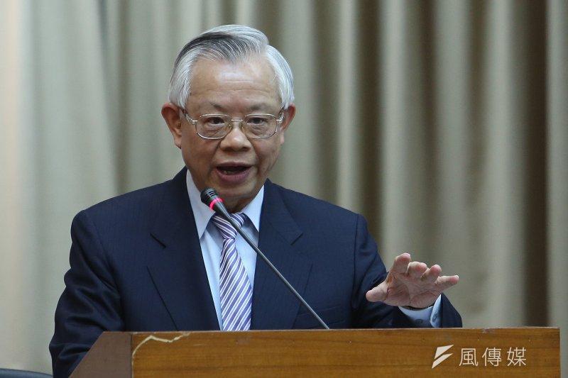 對企業界台幣貶值救出口的聲音,央行總裁彭淮南並不認同與接受。(資料照片,吳逸驊攝)