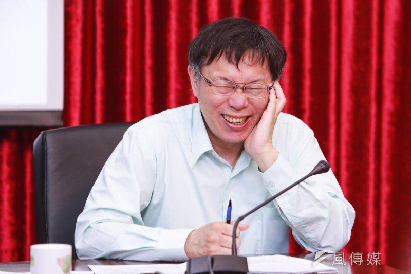 柯文哲的兩岸政策談話獲得北京肯定,在此壓力下,促使國民黨主席朱立倫親自帶隊出席國共論壇。(資料照,林韶安攝)