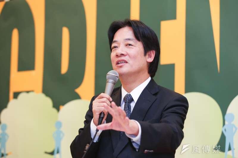 民進黨中常會今日邀請台南市長賴清德,分享他改善財務的經驗。(資料照,余志偉攝)