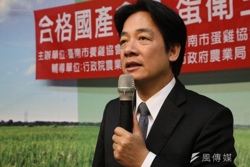 朱習會在即,台南市長賴清德呼籲不要傷害台灣利益。(資料照片,楊子磊攝)
