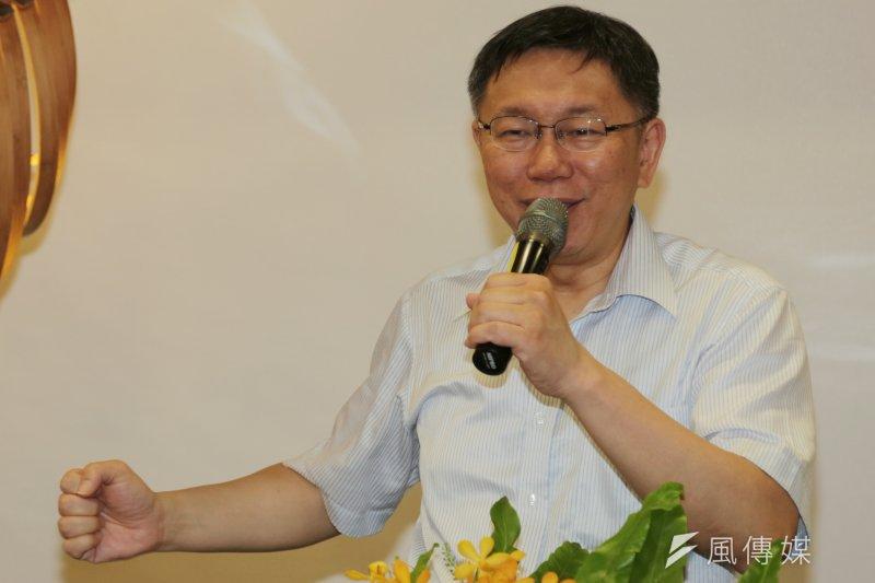 對於任命何金樑為大巨蛋執行長,台北市長柯文哲1日發表回應,表示既然是公務員,就依法行事、認真做事,雖說外界對何金樑有諸多批評,但現在就把何安排在市長室內,「還是我直接在督導他的」。(余志偉攝)