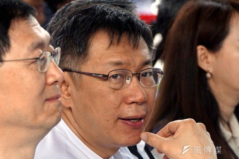 台北市長柯文哲(資料照,蘇仲泓攝)