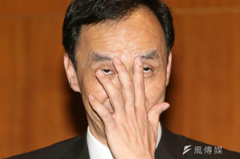 朱習會後記者會,朱立倫強調要有尊嚴的爭取台灣國際空間。(吳逸驊攝)