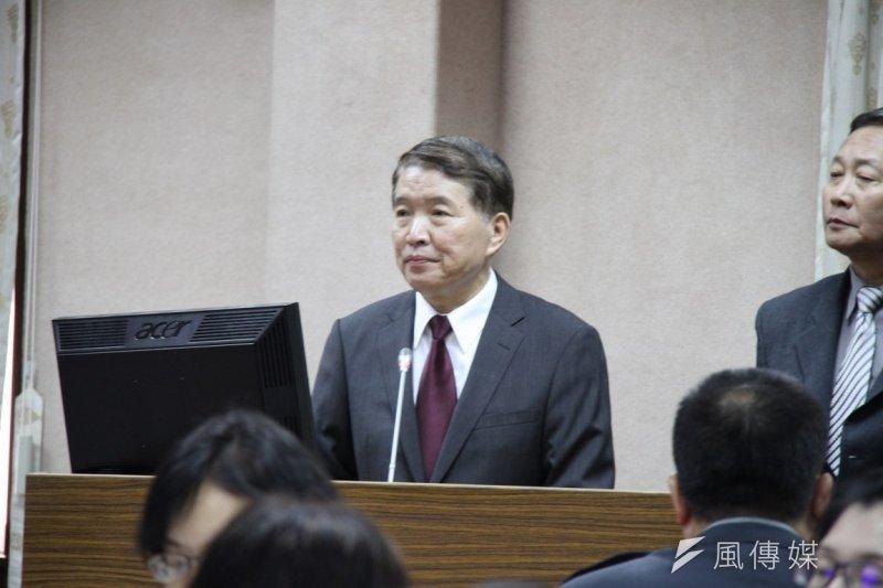 國防部長高廣圻14日到立院備詢。(朱明攝)