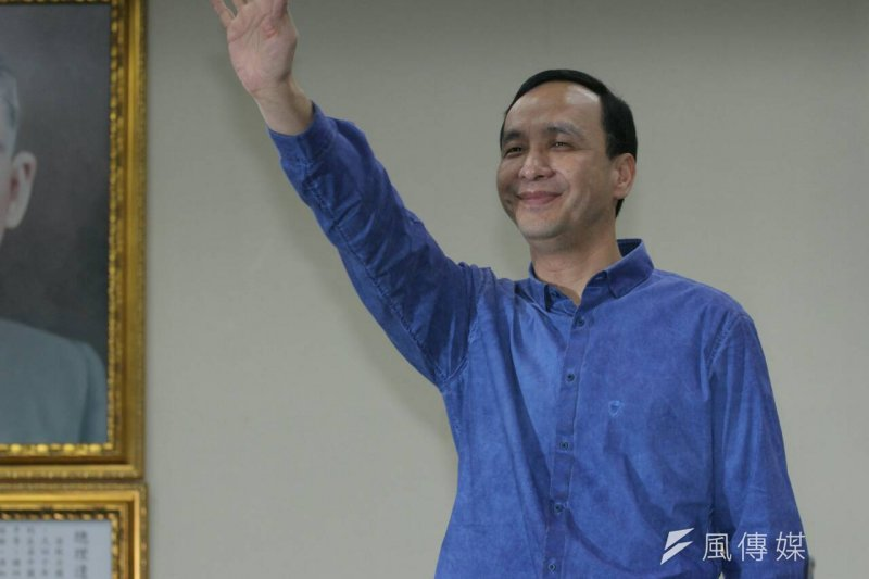 國民黨主席朱立倫重申,為了黨內的團結,自己不會參選2016總統大選。(葉信菉攝)