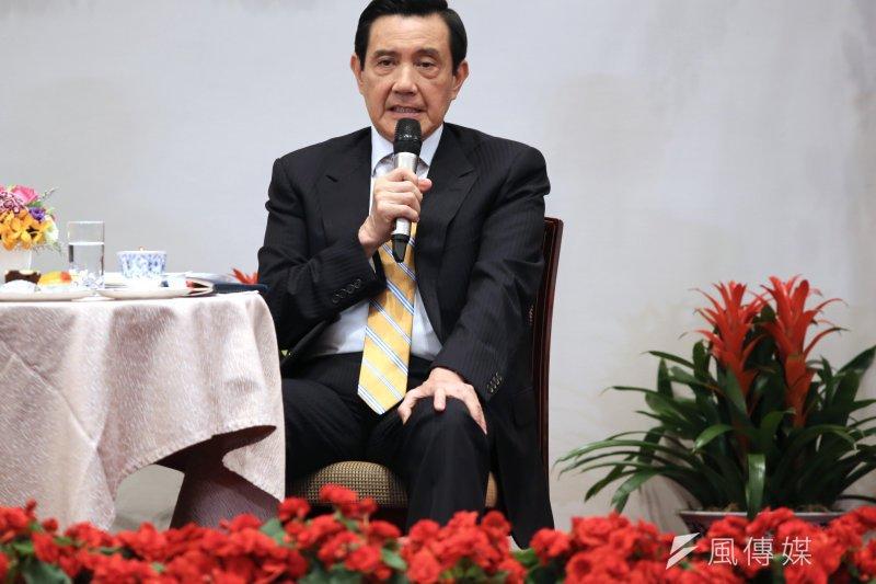 總統馬英九召開國際記者會。(吳逸驊攝)