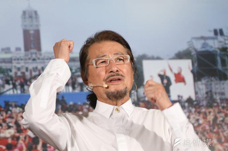 民進黨前主席施明德宣布參選總統記者會。(吳逸驊攝)
