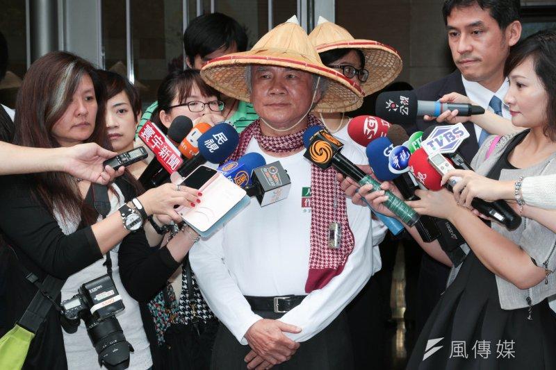 民進黨前主席林義雄舉行記者會。(余志偉攝)
