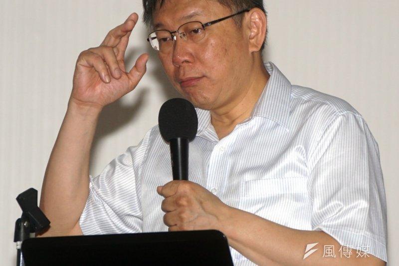 台北市長柯文哲(蘇仲泓攝)