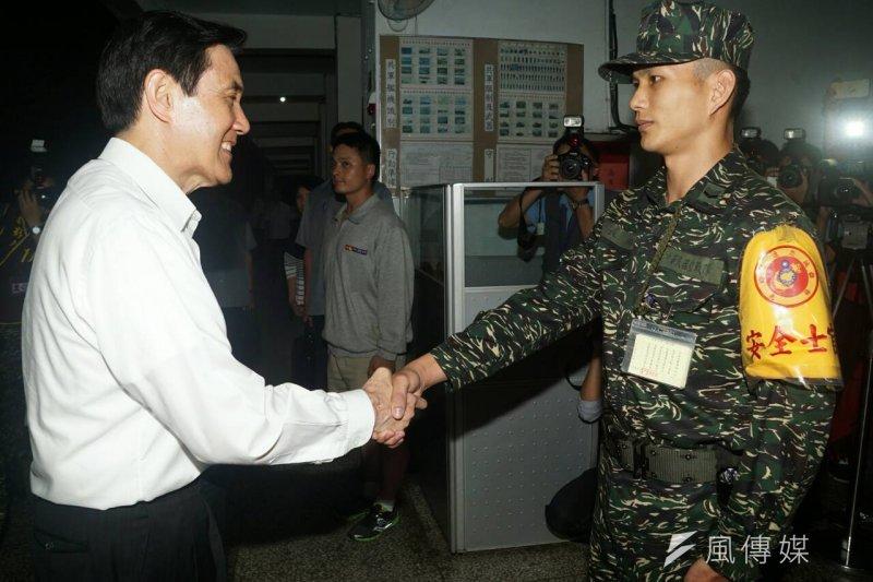 20150526馬英九在陸戰隊66旅的生活及寢室。(蘇仲泓攝) (2).jpg