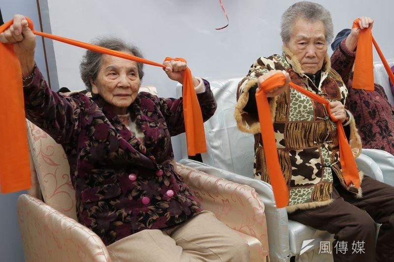 圖為內湖老人日間照護服務開幕。(楊子磊攝)