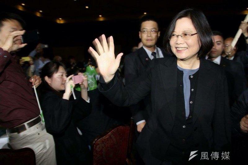 圖為民進黨主席蔡英文訪美,並發表演說。(民進黨中央提供)