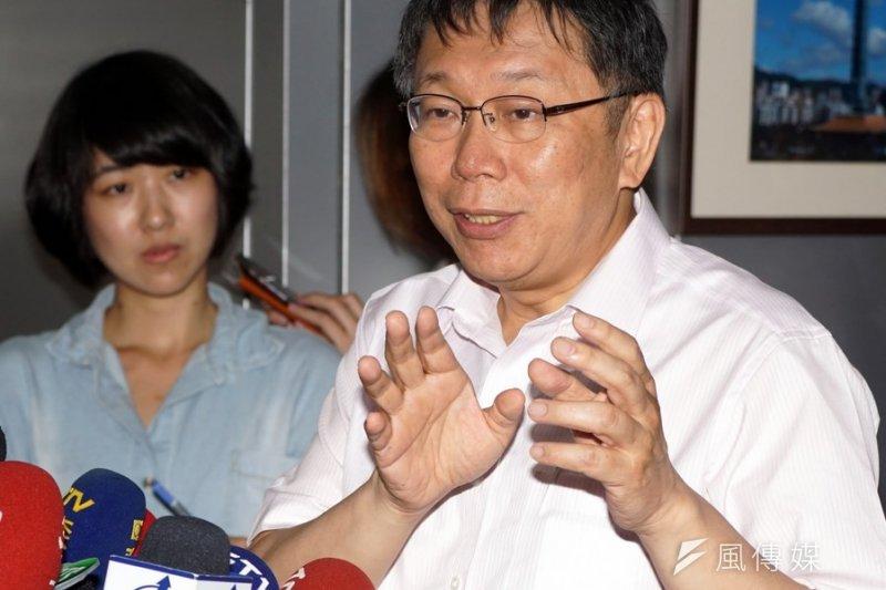台北市長柯文哲。(蘇仲泓攝)