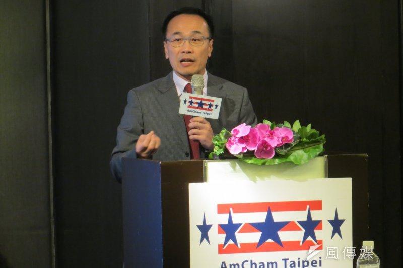 美國商會會長范炘(Thomas Fann)表示,加入TPP「沒有邀請函」這回事。(仇佩芬攝)
