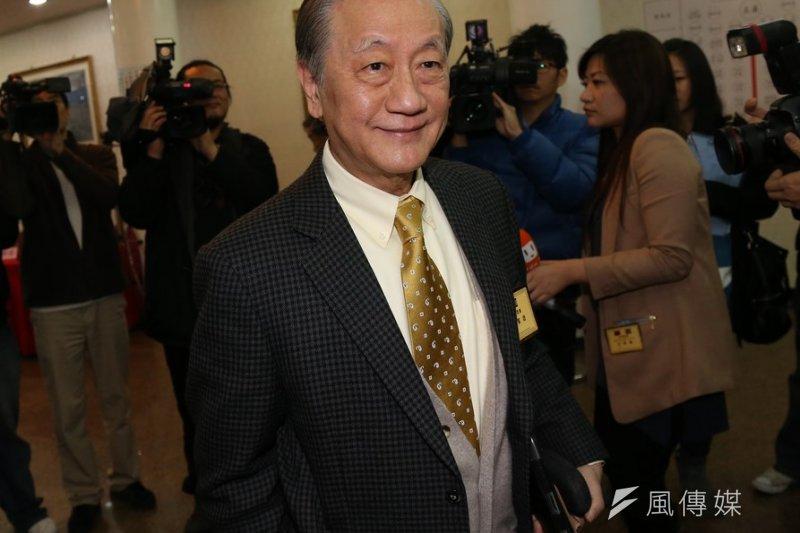 新黨黨主席郁慕明澄清,會支持國民黨提名的總統候選人。(資料照片,吳逸驊攝)